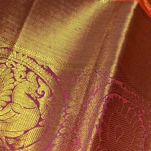 Bridal Kanchipuram Saree with Annam