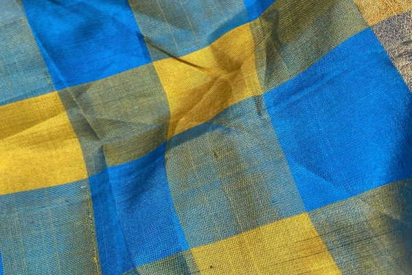 Soft Silk saree Classic Checks front